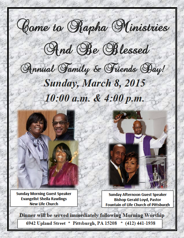 Annual Family and Friends Day